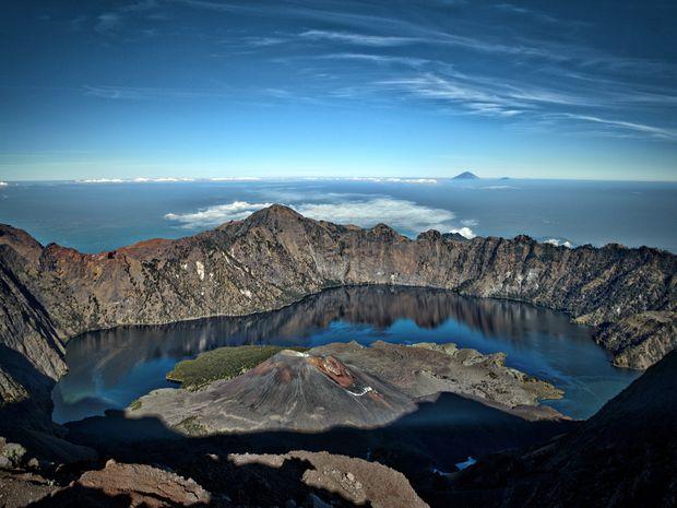 Vue du sommet du Mt Rinjani