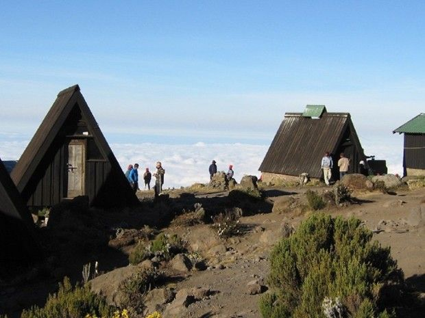 Trekkeurs en campement à Horombo Hut
