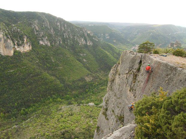 Grandes voies dans les gorges de la Jonte-4