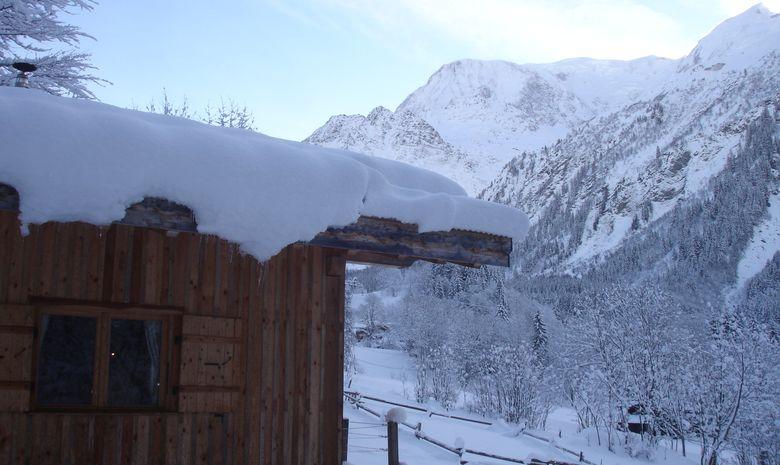 D'ici on observe les avalanches en hiver