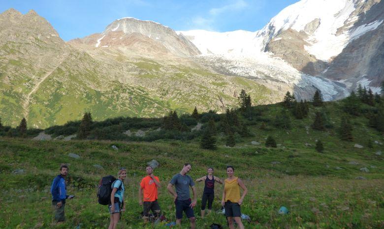 La combe des juments et le glacier en septembre