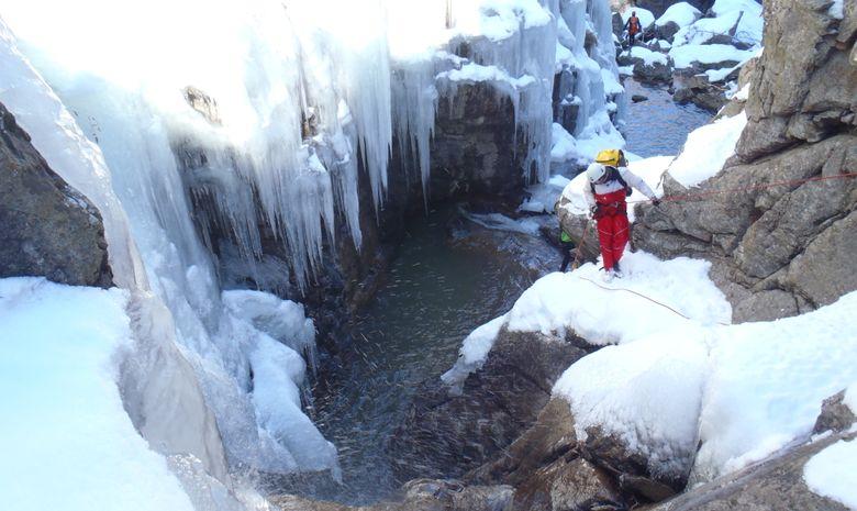 Journée Canyoning Hivernal  Hautes Pyrénées-4