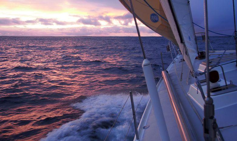 Lever de soleil en navigation