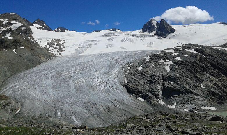 Cascades, lacs et glacier du Ruitor-3