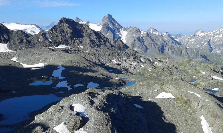 Cascades, lacs et glacier du Ruitor-5