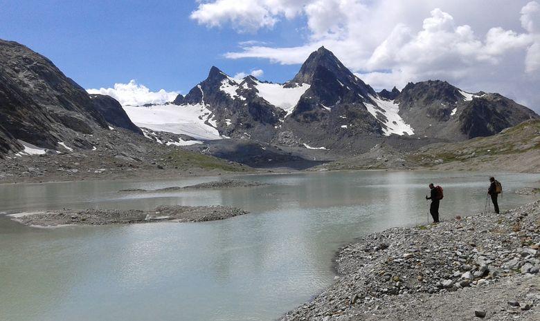 Cascades, lacs et glacier du Ruitor-6