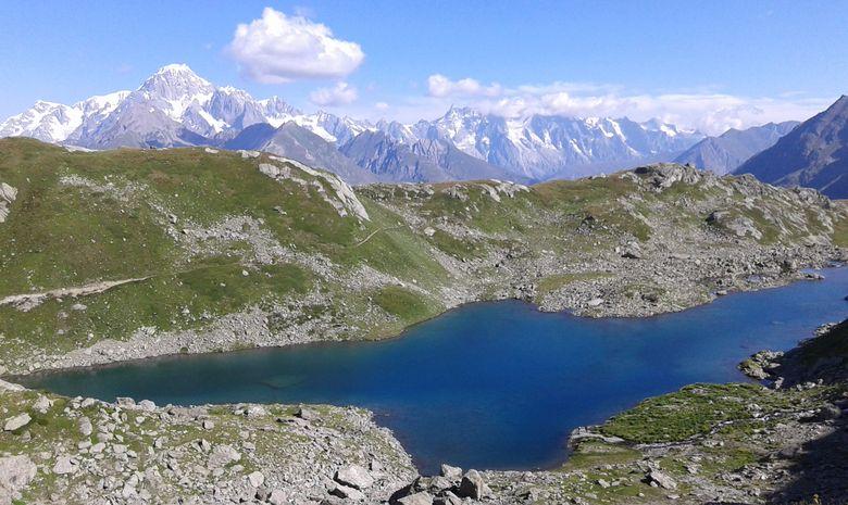 Cascades, lacs et glacier du Ruitor-8