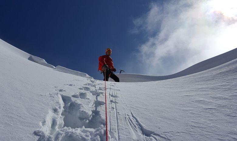 Alpinisme hivernal : Couloir Ouest du Gélas-4