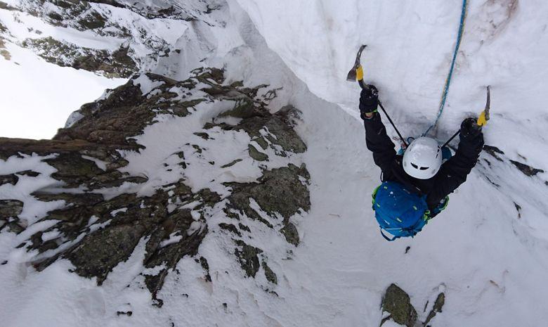 Alpinisme hivernal : Couloir Ouest du Gélas-5