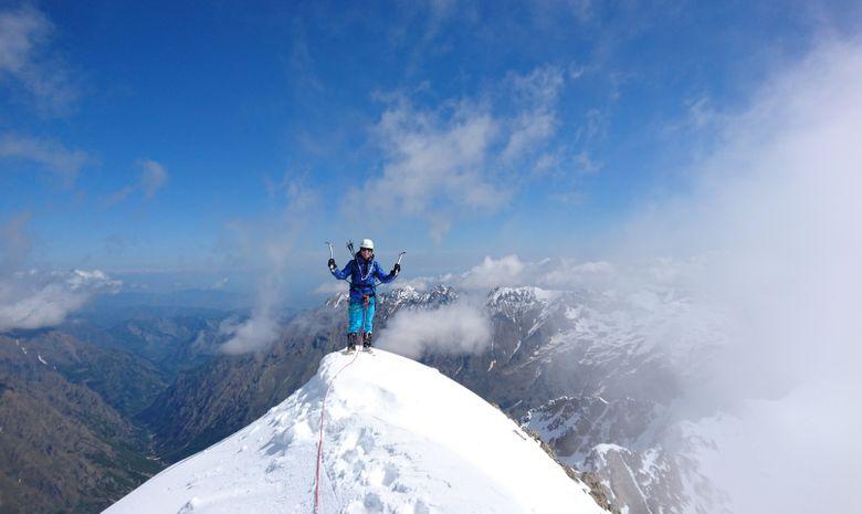 Alpinisme hivernal : Couloir Ouest du Gélas-8
