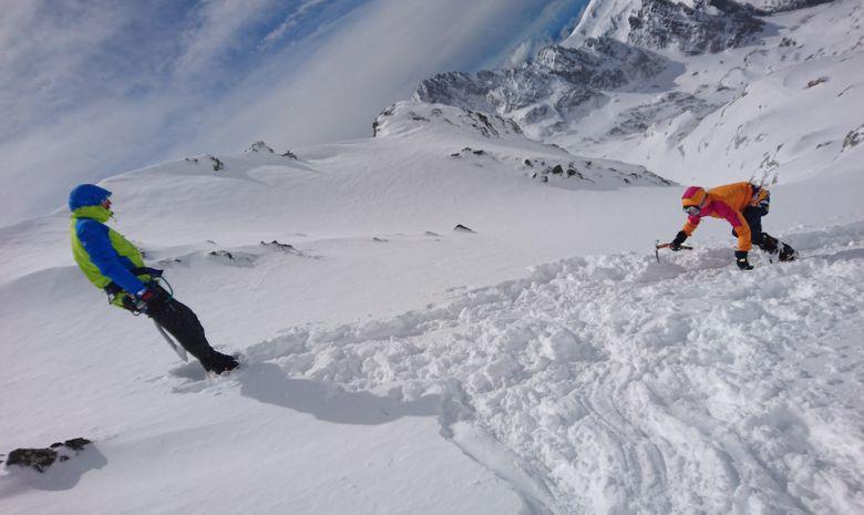 Alpinisme hivernal : Couloir Ouest du Gélas-7