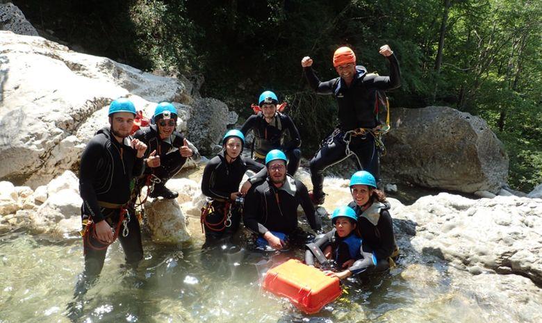 Stage de canyoning sensation en Isère-6