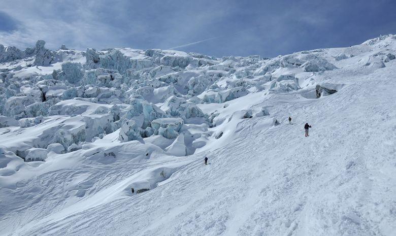 Descente de la Vallée Blanche à ski-2