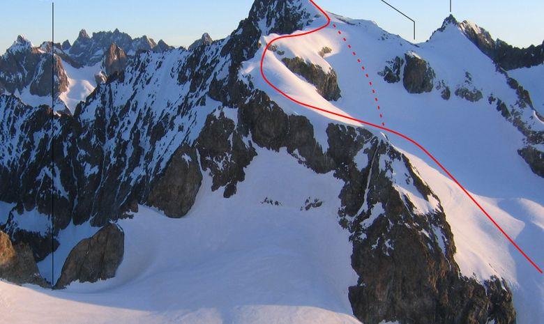 Roche Faurio en ski de randonnée (Ecrins)-4