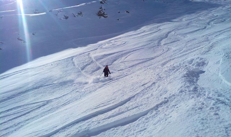 Journée de ski hors-piste à Paradiski-1