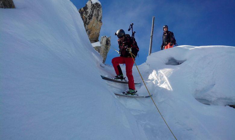 Journée de ski hors-piste à Paradiski-2