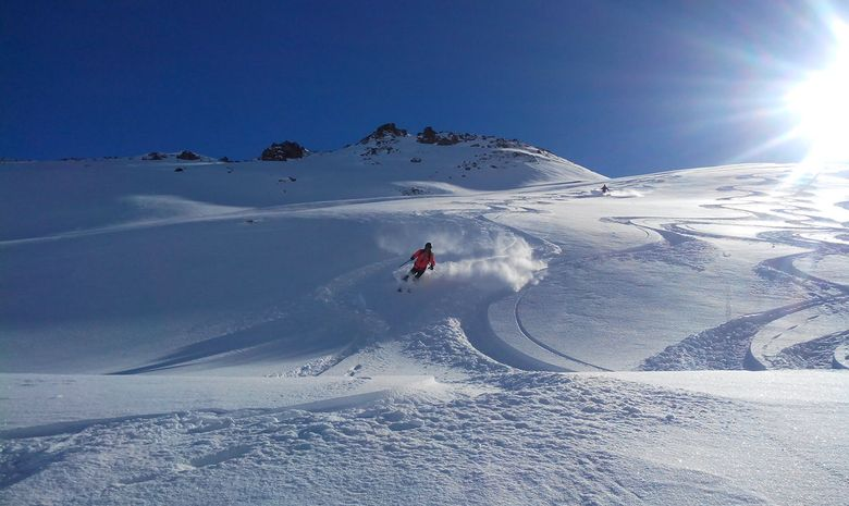 Journée de ski hors-piste à Paradiski-5