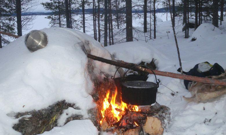 Raid à ski ou raquettes dans la réserve de Kevo-5