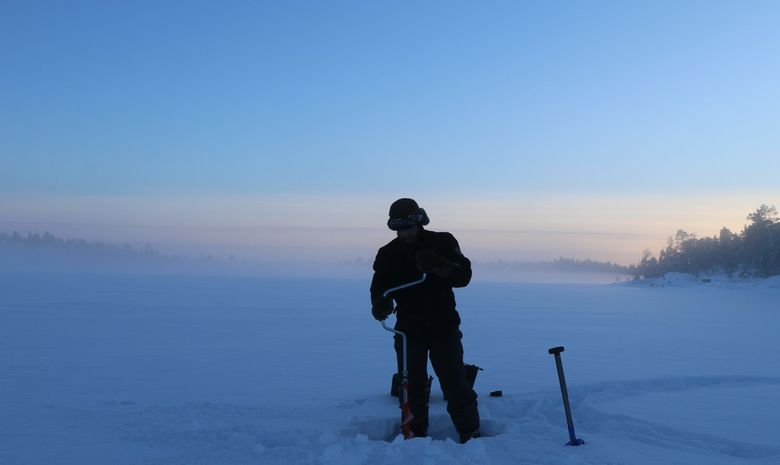 Raid en chien de traineau sur le lac Inari-6