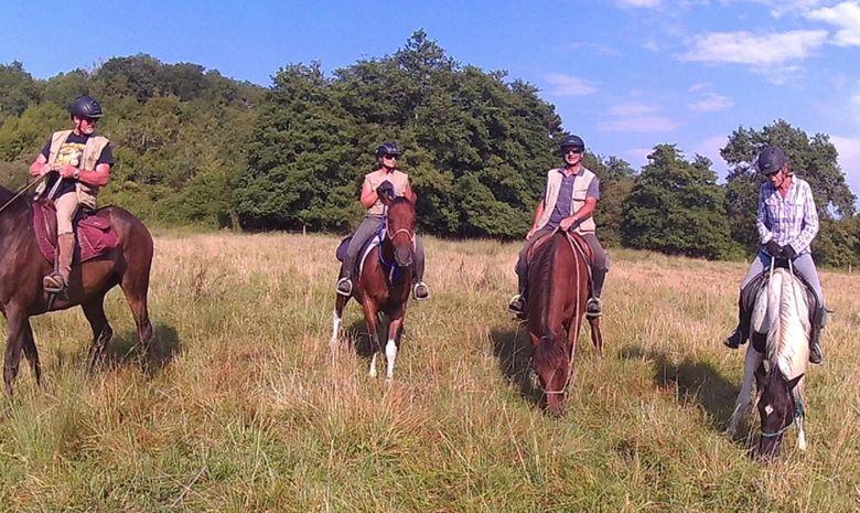 Randonnée à cheval dans les Landes -7