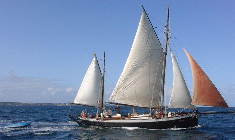 Croisière voilier traditionnel île de Bretagne sud-2