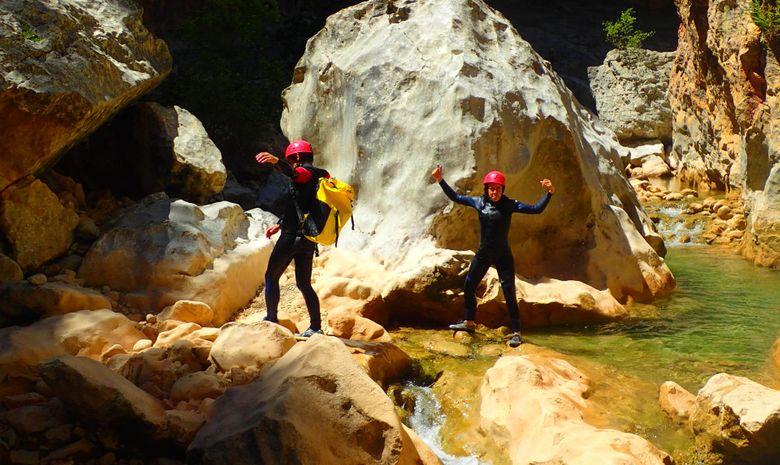 Canyoning trip in Sierra de Guara Spain