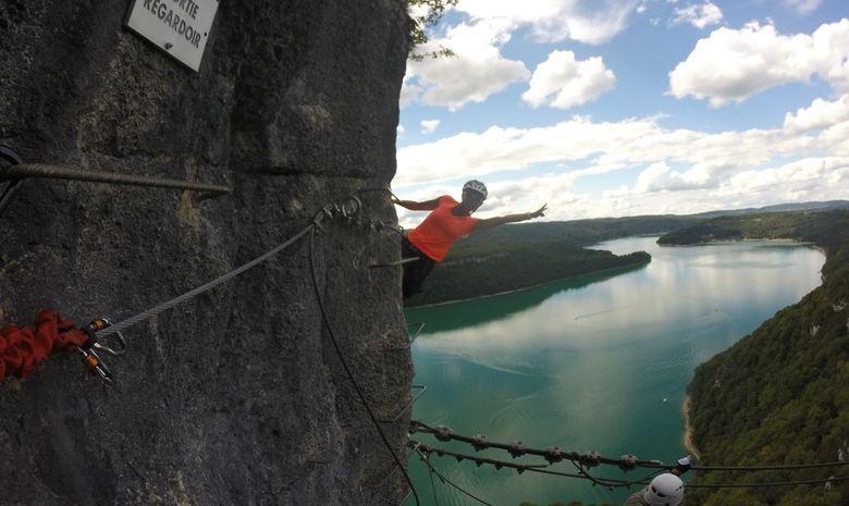 Via Ferrata du Regardoir, Lac de Vouglans-4