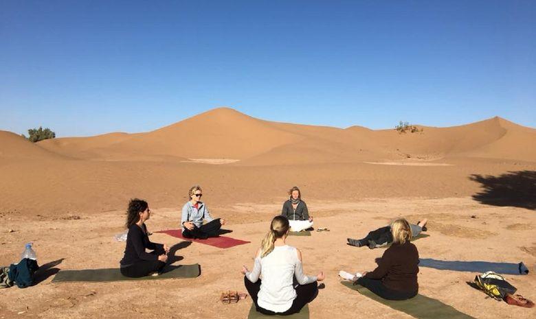 Retraite Yoga itinérante dans le désert marocain-11