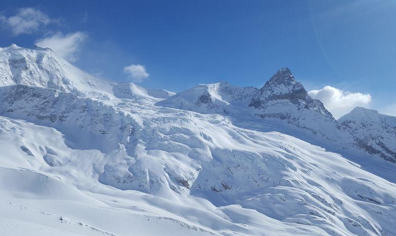raid à ski autour de Zinal , Bishorn 4153m