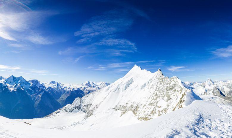 Raid à ski autour de Zinal , Bishorn 4 153 m