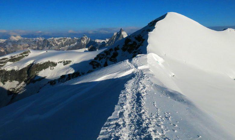 Ascension du Castor depuis l'Italie (4223 m)-6