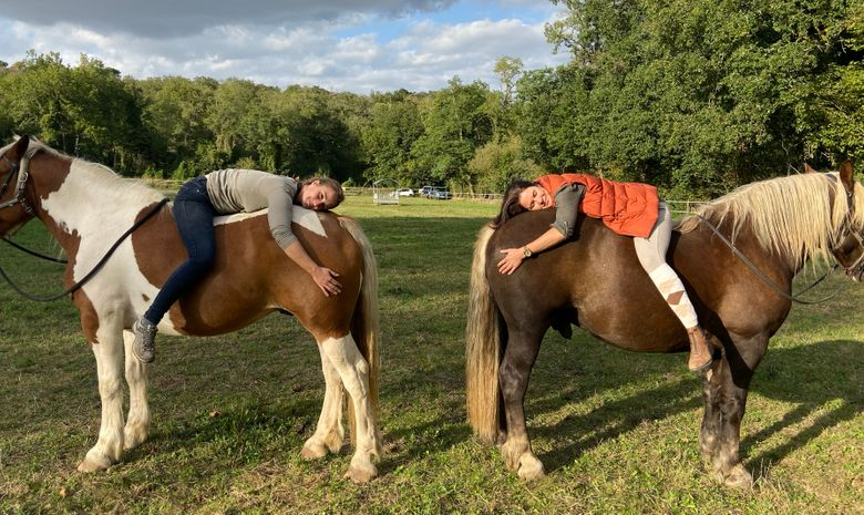 Randonnée équestre hivernale & Yoga
