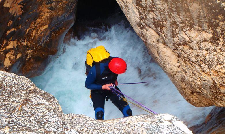Canyoning en Espagne: rappel Mascun