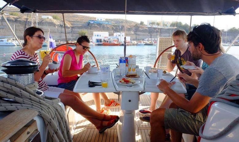 Croisière cabine dans les Cyclades - voilier 56'