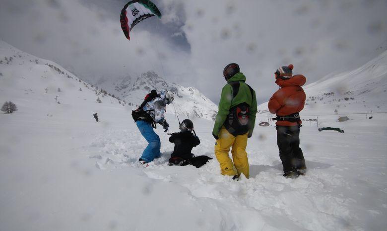 Transfert du kite surf au snow kite-3