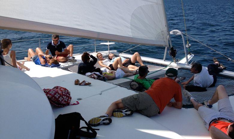 Demi-journée en mer à bord d'un voilier -4