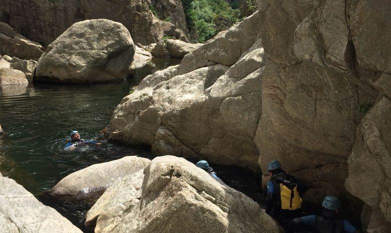 Descente intégrale du canyon du haut Chassezac-1