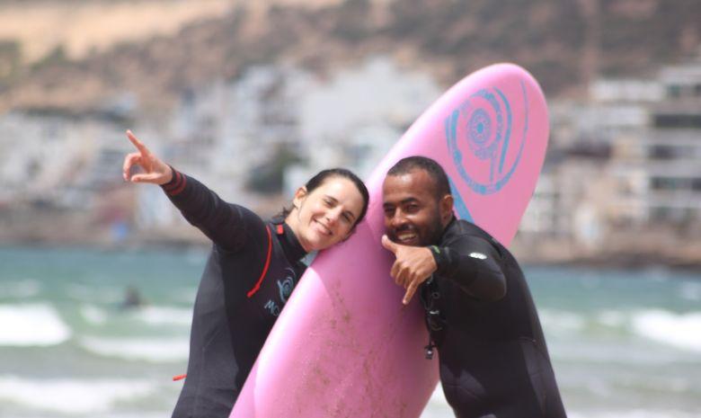 Séjour surf guiding en surfhouse à Tamraght