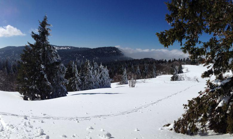 Panorama sur les crêtes du Vercors