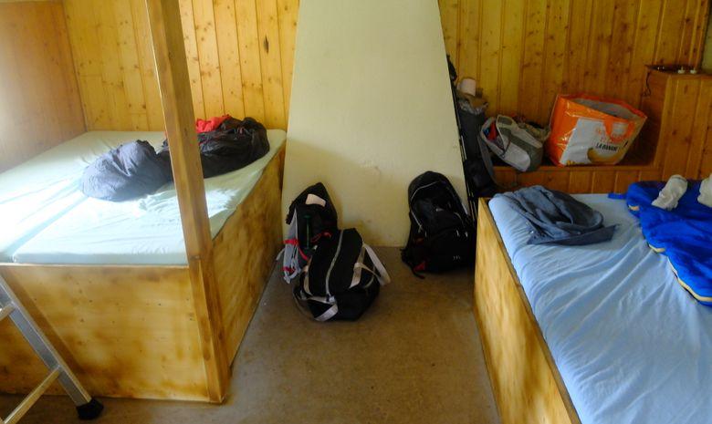 Chambre du refuge de Pré Grandu