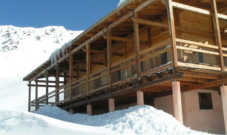 Refuge Agnel sous la neige