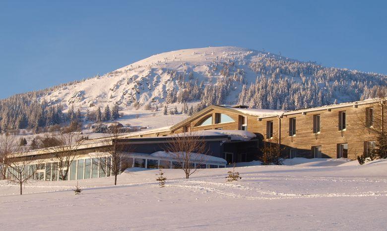 Notre hôtel sous la neige