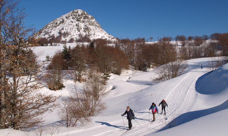 Sortie en ski de fond sur les pistes des Estables