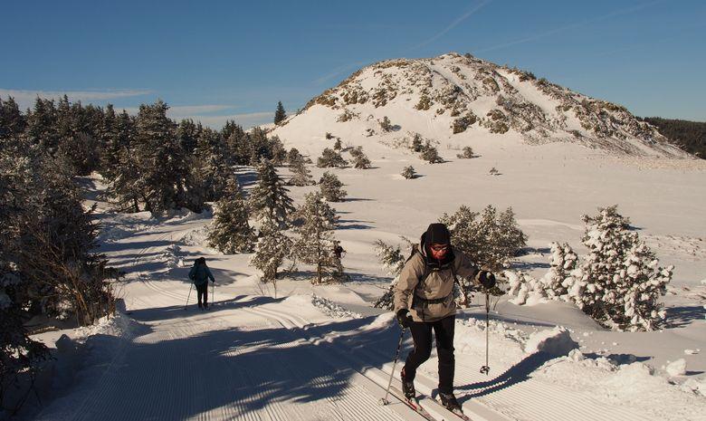 Sortie de ski fond sur les pistes des Estables