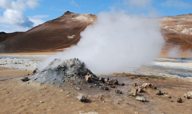 Solfatare en Islande