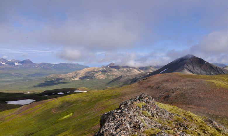 Panorama sur des montagnes islandaises