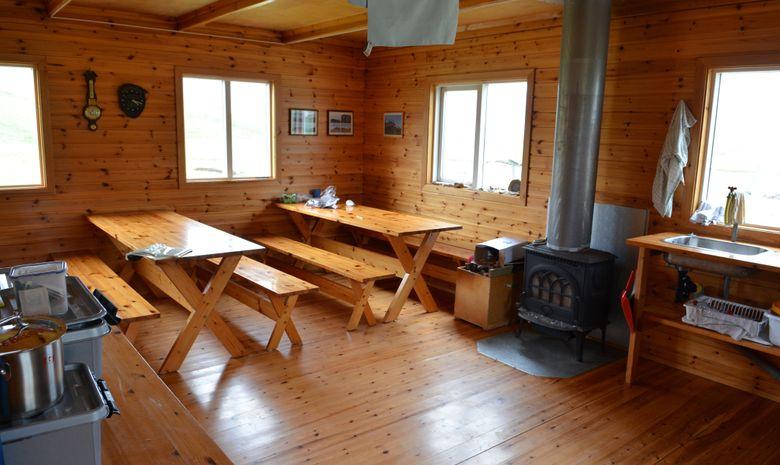 Intérieur d'un refuge en Islande