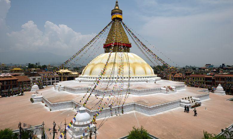 Sanctuaire bouddhiste au Népal