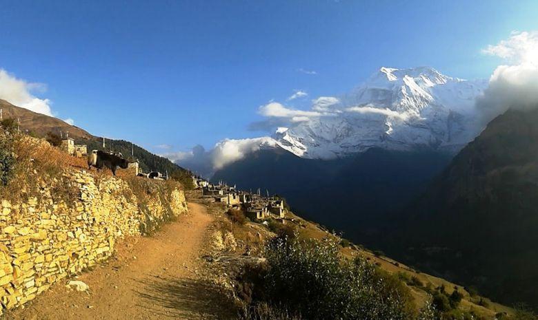 Sentier de randonnée près de l'Annapurna