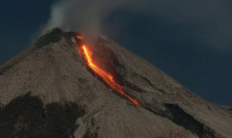 Le Mont Mérapi sur l'île de Java